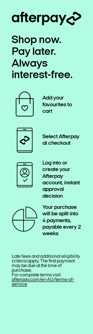 Image shows instructions for Afterpay usage.